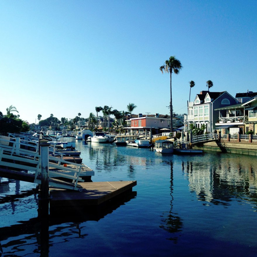 boat reflection California harbor