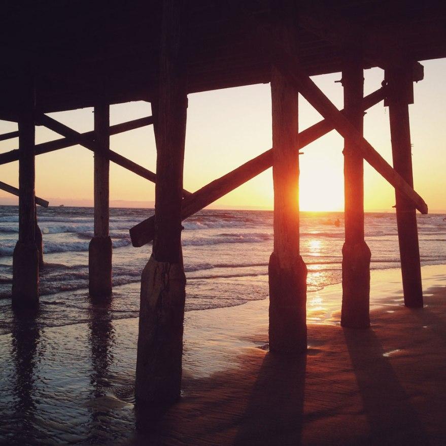 Newport-beach-pier-sunset-wb